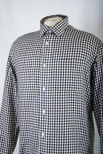 L218/L10 James Pringle Long Sleeved Black Polycotton Check Relaxed Fit Shirt, S