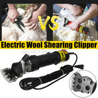 690W Electric Sheep Shears Shearing Animal Clippers Farm Livestock Wool Carding