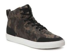 74fbc144b NEW Mens 8 Sam Edelman Geo Hi High Top Sneaker Camouflage Camo Felt Shoes   150