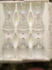 More details for 6 vintage old hall bridge lead crystal wine glasses leander