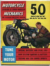 "Vintage Magazine: ""MOTORCYCLE, SCOOTER & THREE-WHEELER MECHANICS"" - May 1962"