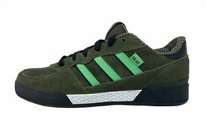 Adidas Originals Sneakers SILAS Mens US 7.5 Shoes Black Green White G21750