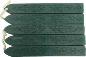 Deep Green Pearl Sealing Wax (with wick) - 5 Sticks