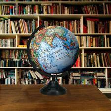 "13 Big Decorative Rotating Globe Blue Ocean World Geography Earth Home Decor"""