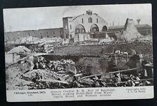 """RARE 1912 United States Photo Postcard """"Chicago October 1871"""" Unused"""