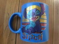New Disney Lilo and Stitch Coffee Mug Cup 20 Oz Ceramic Sunset Blue Orange