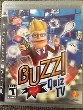 Buzz Quiz TV (Sony PlayStation 3, 2008) Game Only
