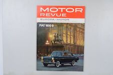 Motor Revue Europa Motor Ausgabe 40 Winterausgabe 1961