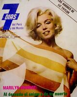 Marilyn Monroe Magazine 1973 7 Dias Peru International Bert Stern Last Sitting