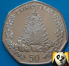 2016 GIBRALTAR 50p Fifty Pence Christmas Tree XMAS Unc Coin 10k Mintage Only!!!