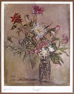 Ira Moskowitz An Ode To a Summer Floral Vintage Litho 1960,s