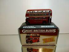 ATLAS  LONDON TRANSPORT RTW DOUBLE DECKER BUS - RED 1:76 - GOOD IN BOX