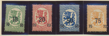 Finland Stamps Scott #119 To 122, Mint Hinged
