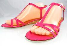 $248 KATE SPADE VIOLET Cork Wedge Sandals Low Heels Designer Womens Shoes 7.5