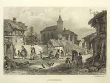 1 Orig.Stahlstich  H. Winkles ca.1840 AREMBERG / EIFEL