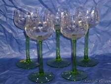 5x copa de vino estilo verde vino romanos-Jugendstil-mano lijado Jugendstil