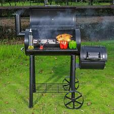 BBQ Charcoal Barrel Grills Heavy Duty Wood Offset Smoker Outdoor Camping