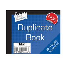 2 X Duplicate Receipt Book Half Size No Carbon NCR Sheet Page 1-80 High Quality
