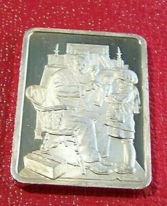 """""""Rockwell's Doctor & Doll"""" Norman Rockwell's Best Post Covers 1 oz.999 Silver"""