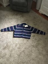 Laura Ashley Mother and Child Blue Wool Button Down Sweater - Childrens XL - NWT