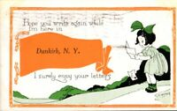 Vintage Postcard, Dunkirk New York Greetings,