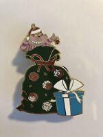 Disney Alice In Wonderland Cheshire Christmas Sack Flower Present Fantasy Pin LE