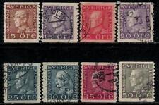 KINGDOM OF SWEDEN 1921 - 1937 Old Stamps - King Gustavus V