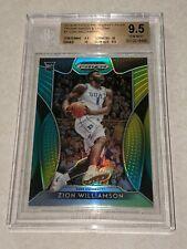 2019-20 Prizm Draft Green And Yellow Zion Williamson BGS 9.5 Gem Mint 155/249