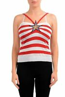 Just Cavalli Women's Striped Knitted Tank Top US S IT 40