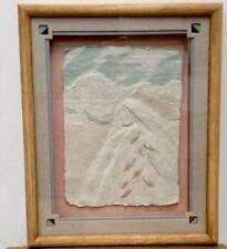 "VTG Sculpted Paper Southwest Art, Shadowbox 10"" x 9"" Framed"