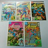 Superman Action Comics Lot 50¢ Covers From #511-523 10 Diff Avg 8.0 VF (1980&81)