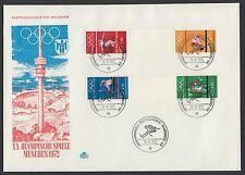 Bund Olympiade 1972 Zusammendrucke W 30 - SZ 2 b FDC´s  Michel Euro 696,00