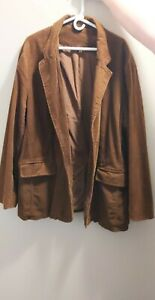 Men's Mossimo Jacket Coat Medium Brown Corduroy Retro Hipster 2XL