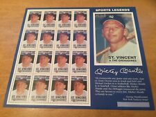 St.Vincent Grenadines Scott #2379 BASEBALL Mickey Mantle Postage Sheets MNH