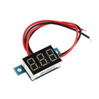 5X LED Mini Digital Voltmeter Spannungsanzeige Panelmeter DC 3-30V DE GK