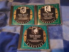TEDDY WILSON - CHRONOLOGICAL CLASSICS SERIES CD'S X 3 ALL IN EXC CONDITION