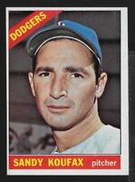 1966 Topps Baseball #100-Sandy Koufax, Los Angeles Dodgers, HOF, EX-MT,Free Ship