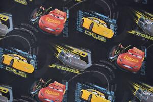 Disney Pixar Cars 3 Fabric - Storm, Cruz & Lightning McQueen, Large Design
