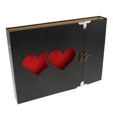 Wedding Memorial Manual Hollowed Heart Shape Photo Image Album Scrapbook