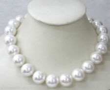 AAA+++ Beautiful! 12mm White Sea South Shell Pearl Necklace 18''