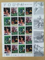 US Stamp Sheet SCOTT #3399-3402 YOUTH SPORTS 33 CENT MNH