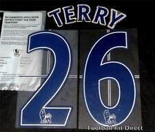 Chelsea Terry 26 Premier League Name/Number Set Football Shirt Lextra 07-13 Blue