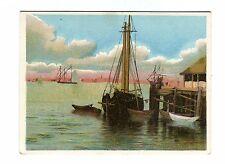Victorian Trade Card UNION PACIFIC TEA CO Coffee boat at dock