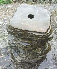Stone column  offset  Water Feature Polished top Drilled for Pipe work 27 mm