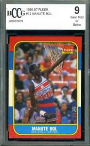 Manute Bol Beckett BCCG 9 1986 Fleer Rookie