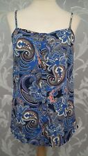Ladies Silky Paisley Print Strappy Top From F&F size 10