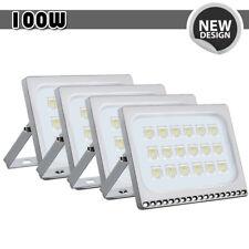 4x 100W LED Flood Light Cool White Outdoor Spotlight Garden Yard Lamp New IP67
