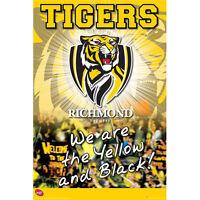 AFL - Richmond Logo POSTER 61x91cm NEW * Tigers Aussie Rules Footy