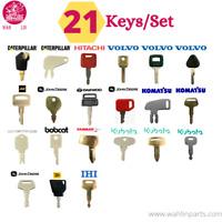 21 Keys Plant & Ignition Equipment Key Set - PLANT / DIGGER / EXCAVATOR / BOMAG