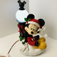 Mickey Mouse Christmas Holiday Garden Statue Figure Light Up Lamp Post Disney